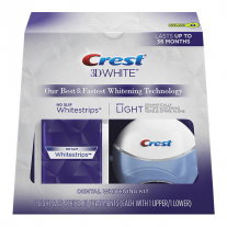 Crest 3D White Whitestrips with Light Tooth Whitening Kit